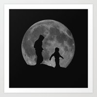 walk the moon Art Prints featuring Moon Walk by Peaky40
