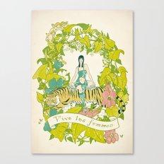 Vive Les Femmes Canvas Print