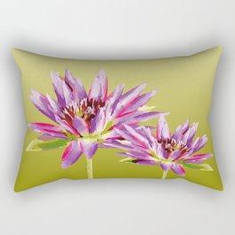 Water Lilies violet green Rectangular Pillow