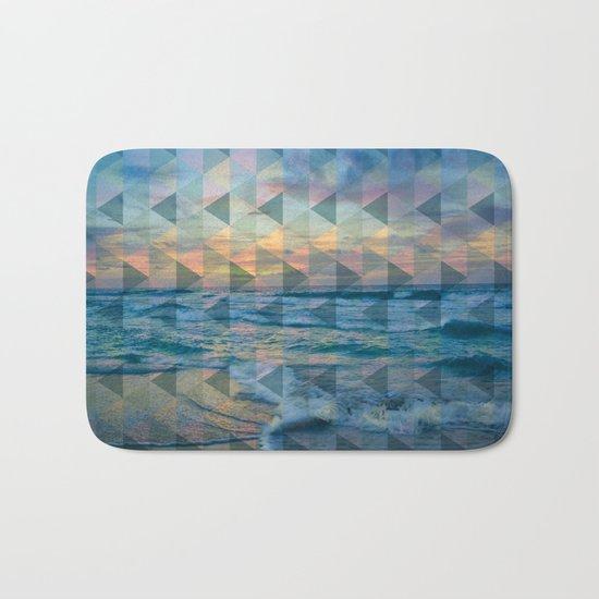 Beach mosaic Bath Mat