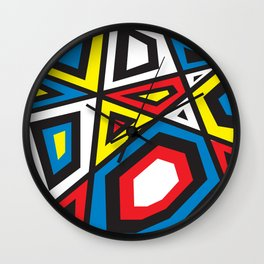 Primary colors 7 Wall Clock