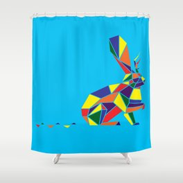 Wingless Wolpertinger (A.K.A Jackelope) Shower Curtain