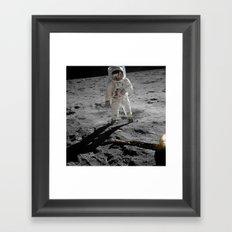 Astronaut Buzz Aldrin Apollo 11 original Photograph 1969 Standing on The Moon Print Framed Art Print