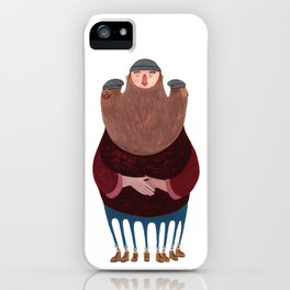 King Beardy iPhone Case