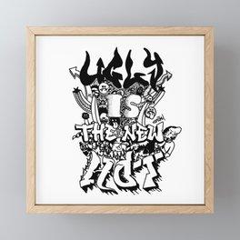 Ugly is the new hot - Monster lettering Framed Mini Art Print