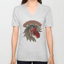 Horse Nation (Red) Unisex V-Neck