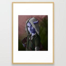 Kallista the Tiefling Warlock Framed Art Print