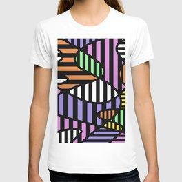 Crazy Curvy Pastel Stripes T-shirt
