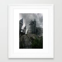 hogwarts Framed Art Prints featuring Hogwarts by Jessica Krzywicki