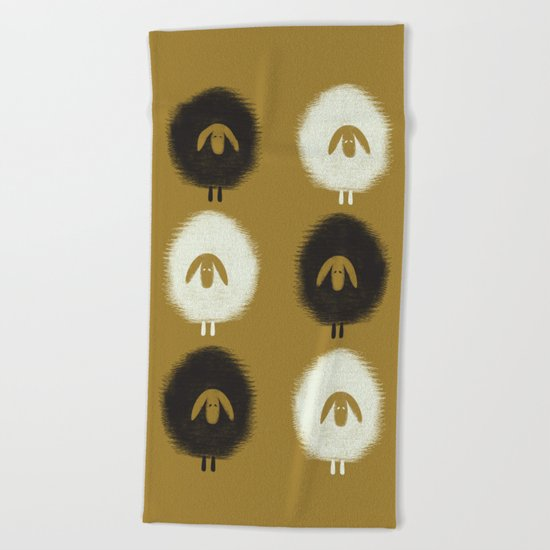 Sheep ochre Beach Towel