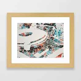 Paint Out Loud-Record Player Framed Art Print