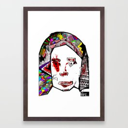 The Female Face  Framed Art Print