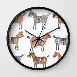 Polo Pony Parade Wall Clock