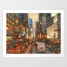 Busy Sunset Art Print