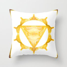 You Are My Sunshine Abstract Chakra Art  Throw Pillow