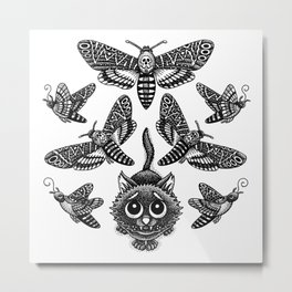 Deadly Moth Lover Metal Print