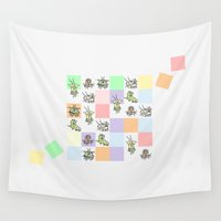 bugs Wall Tapestries featuring Bugs by Scribblebro