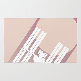 International Space Station Space Art Rug