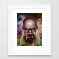 heisenberg Framed Art Prints featuring Heisenberg by Isabella Morawetz