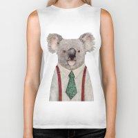 koala Biker Tanks featuring Koala by Animal Crew
