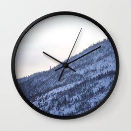 Golden winter hour Wall Clock