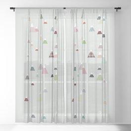 winter || in white Sheer Curtain
