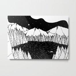 The dark lake Metal Print