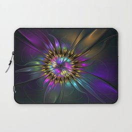 Fantasy Flower Fractal Laptop Sleeve