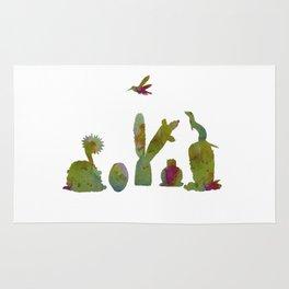 Cacti and ferret art Rug