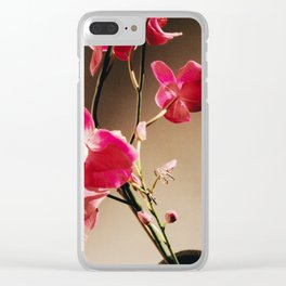 35mm Orchid 1 Clear iPhone Case