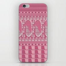 Rose Pink Geometric Abstract iPhone & iPod Skin