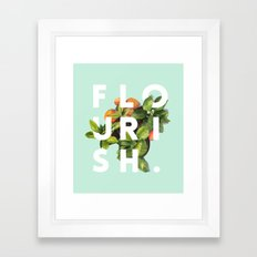 Flourish #society6 #buyart #typography #artprint Framed Art Print