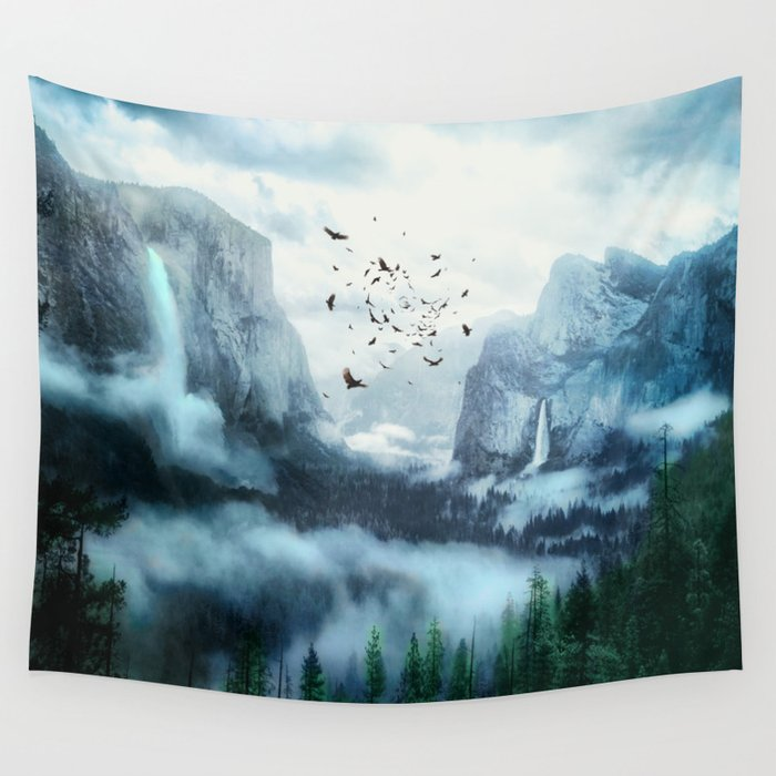 Mountain Morning 3 Wall Tapestry