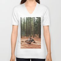 camp V-neck T-shirts featuring Camp by Casey Afton Hess