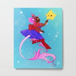 Unicorn Princess Metal Print
