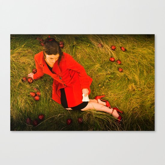 Lizzie Nunnery and the Apples Canvas Print