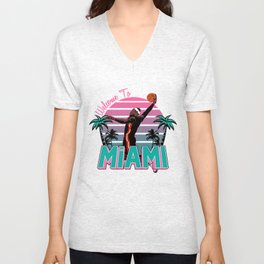 """The Victrs """"Welcome To Miami"""" South Beach Unisex V-Neck"""