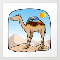 Exalted Camel Art Print