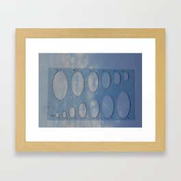 the size of the clouds Framed Art Print
