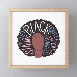 Black Women Matter | Black History Month Framed Mini Art Print