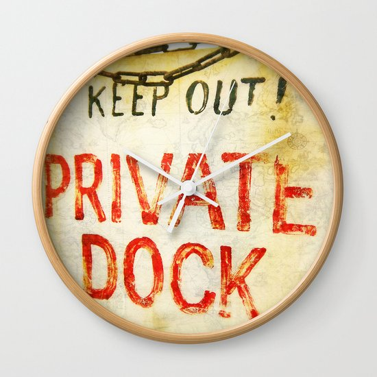"""Private Dock"" Wall Clock"