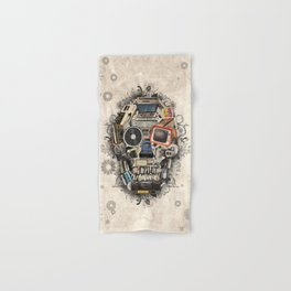 retro tech skull 2 Hand & Bath Towel