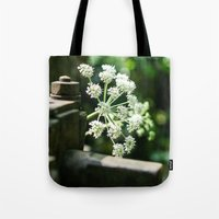 lace Tote Bags featuring Lace by Candace Fowler Ink&Co.