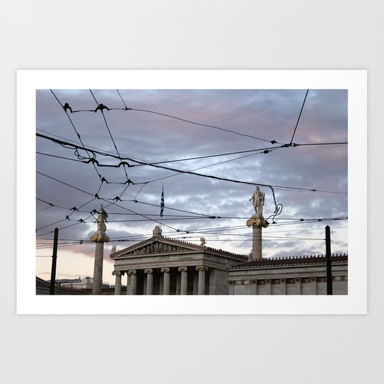Wired Sky Art Print