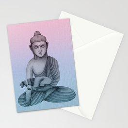 Buddha with dog 1 Stationery Cards