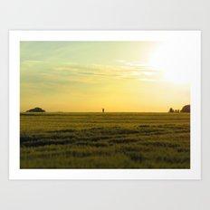 the lonely farmer Art Print