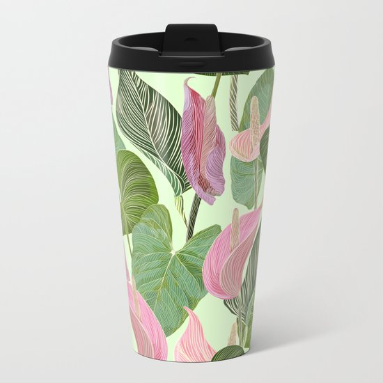 Lush Lily Metal Travel Mug
