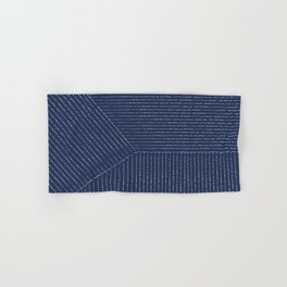 Lines / Navy Hand & Bath Towel