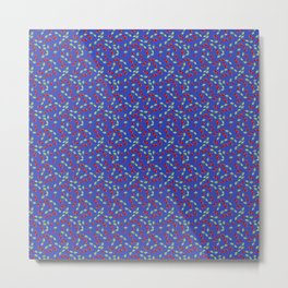 Cherries on blue Metal Print