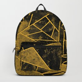 Yellow and Black Geometric House Colours Backpack